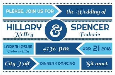 caligraphic: Wedding Invitation Card