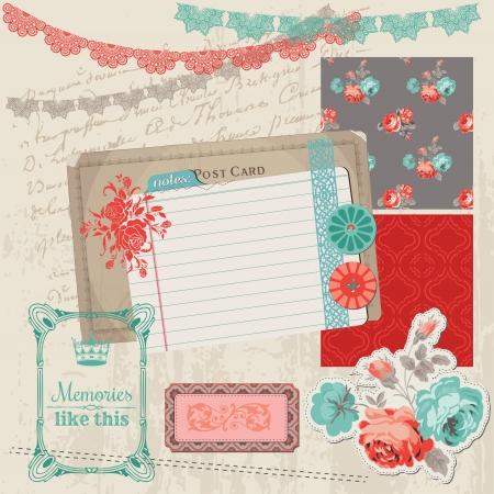 scrapbook cover: Elementos del libro de recuerdos de dise�o - Rosas del vintage y Aves