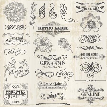 calligraphie arabe: �l�ments de conception et d�coration calligraphiques, la page de collecte de cadre de cru avec des fleurs