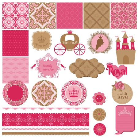 beautiful princess: Scrapbook Design Elements Illustration