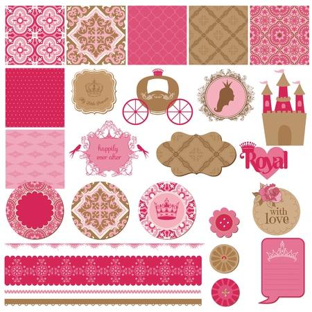 princesses: Scrapbook Design Elements Illustration