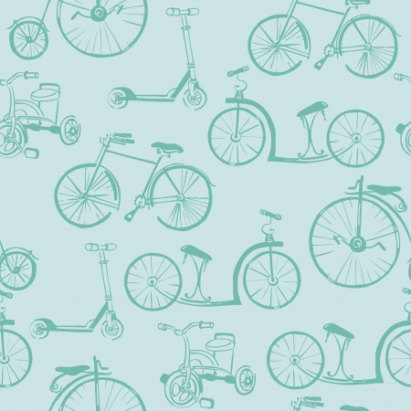 Baby Bicycle Background - for design and scrapbook - in vector Vector