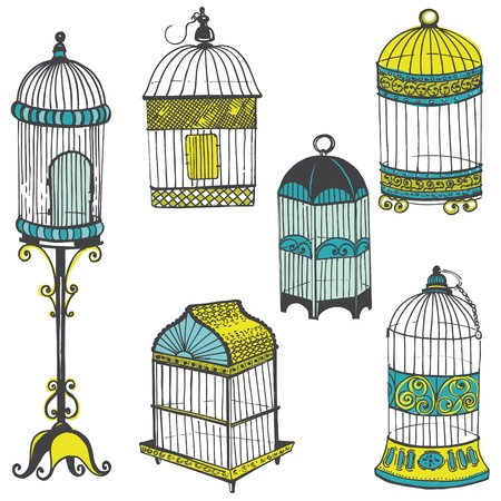 Birdcages Collection - for design or scrapbook Stock Vector - 19584417