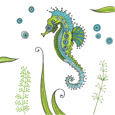 scrapbook: Tropical Seahorse background