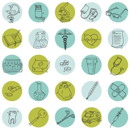 medical icons: Medical Icons - hand drawn
