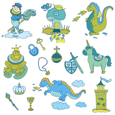 Prince Boy Set - for design and scrapbook - in vector Vector