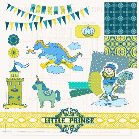 Scrapbook Design Elements - Little Prince Boy Set - in vector Stock Vector - 20912962