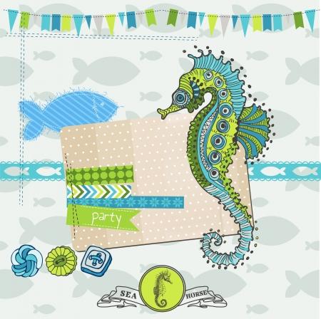 caballo de mar: Noticias Design Element - Tropical Fish and Sea Horse Tema