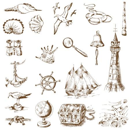 Mer nautique Design Elements - pour scrapbook et de la conception