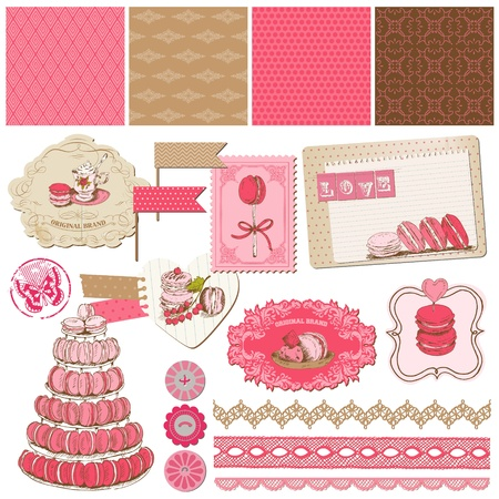 Scrapbook Design Elements - Macaroons and Dessert Collection Vector