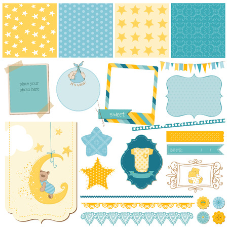 baby bear: Scrapbook Baby Bear Set - for design