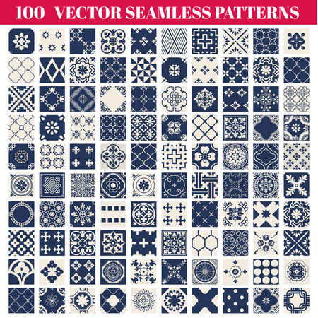 100 Seamless Patterns  Collection - for design and scrapbook