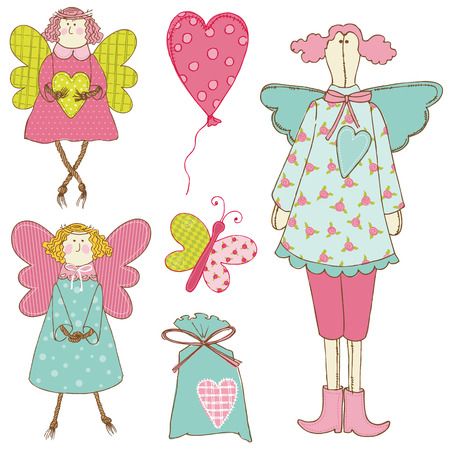 Scrapbook Design Elements - Baby Doll Set Vector