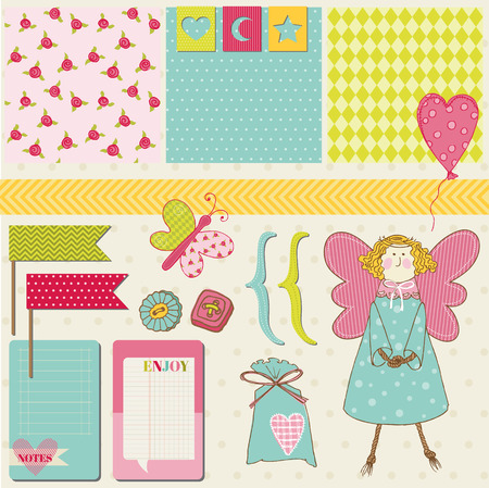 Scrapbook Design Elements - Baby, Birthday, Party Set Vector