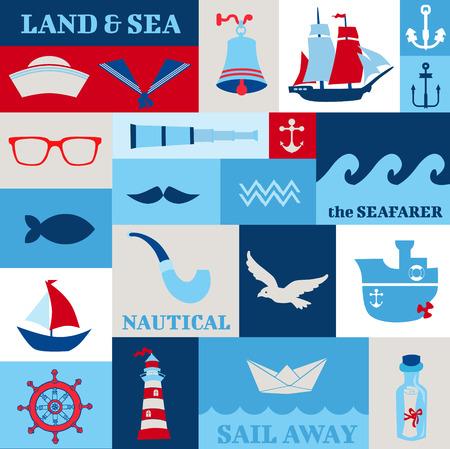 brig ship: Nautical Sea Design Elements