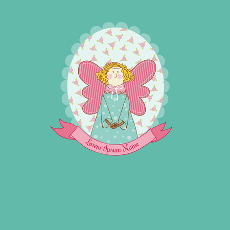 Doll theme Scrapbook Card Vector