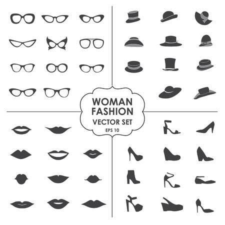 lips: Woman Fashion Set