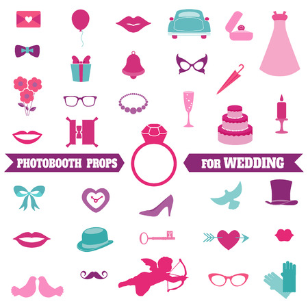 Wedding Party Set Vector