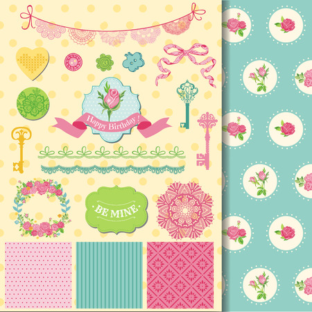 shabby chic: Scrapbook Design Elements - Floral Shabby Chic Theme