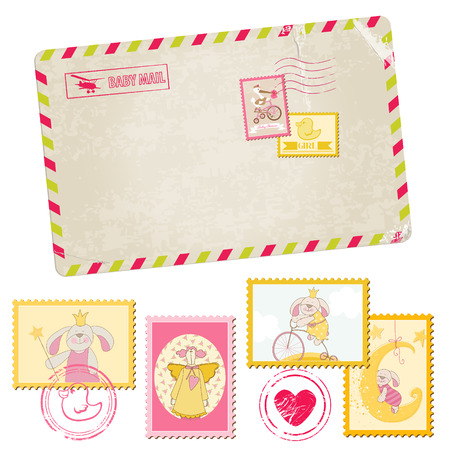 baby arrival: Baby Shower or Arrival Postage Stamps
