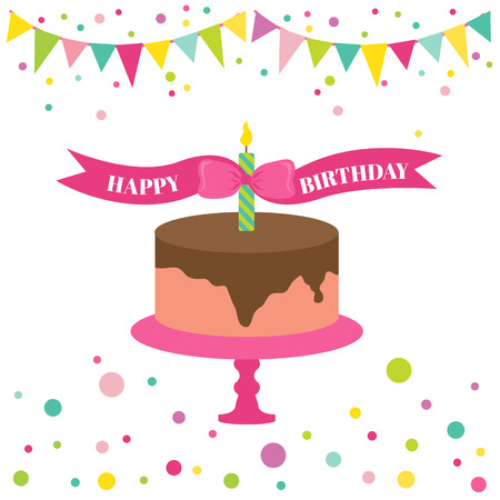 Happy Birthday and Party Card - with place for your text  Vector