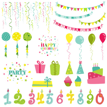 party celebration: Birthday and Party Set - for photobooth, scrapbook, design