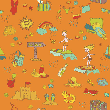 Seamless Summer Holiday Background Vector