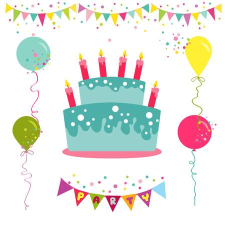 Cumpleaños y la invitación del partido del feliz