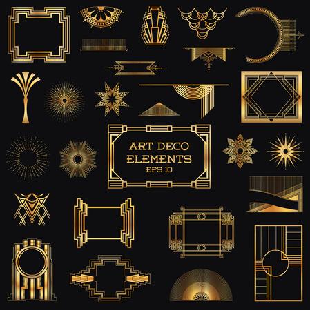 art deco frame: Art Deco Vintage Frames and Design Elements