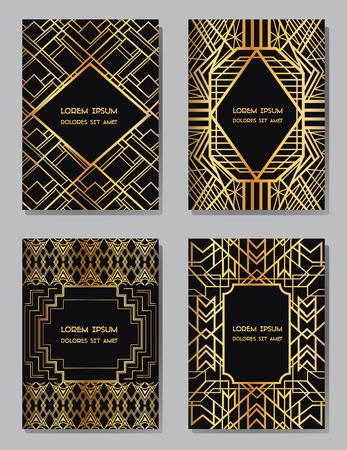 Art Deco Vintage-Bilder und Design-Elemente - mit Platz für Ihren Text