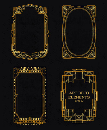 Art Deco Vintage Frames and Design Elements - in vector Vector