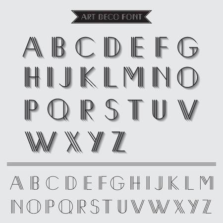 typography vector: Art Deco Type Font, Vintage Typography - in vector