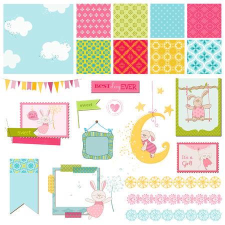 Scrapbook Design Elements - Baby Bunny Sweet  Vector
