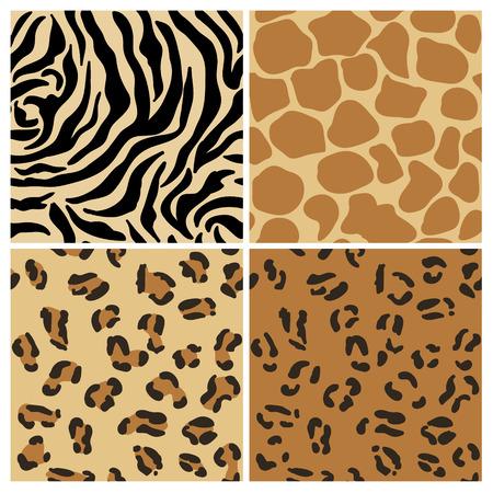 Set van dieren patronen - voor het ontwerp en scrapbook Stock Illustratie