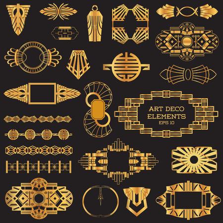 art deco frame: Art Deco Vintage frames and design elements  Illustration