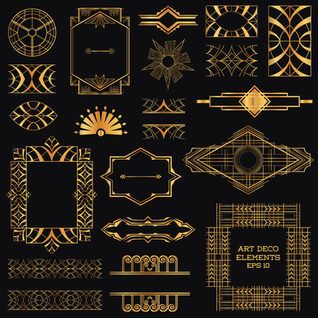 Art Deco Vintage Frames e Design Elements