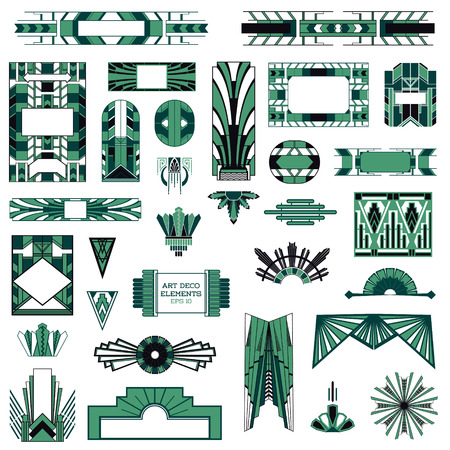 Art Deco Vintage Frames And Design Elements Royalty Free Cliparts, Vectors,  And Stock Illustration. Image 29429849.