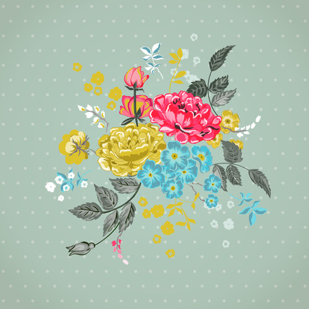Floral Background - for design, scrapbook  Vector