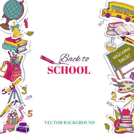 utiles escolares: Volver a fondo de la escuela