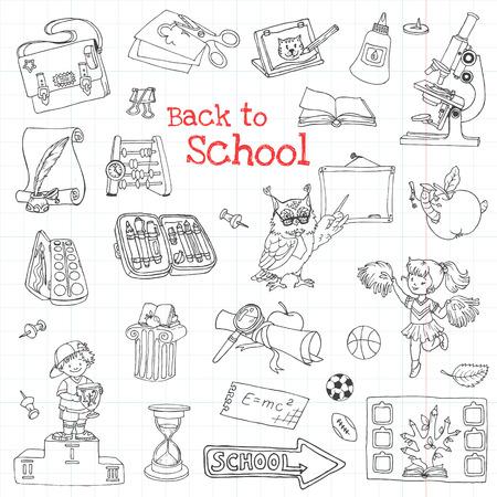 Back to School Doodles - Hand-Drawn Illustration Design Elements  Vector