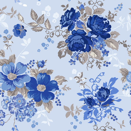 Vintage Floral Background - seamless pattern for design and scrapbook - in vector Illustration