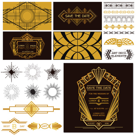 cover art: ART DECO OR GATSBY Party Set  Illustration