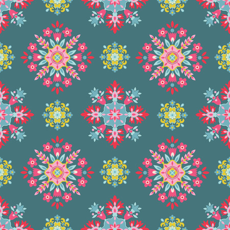 notebook cover: Vintage Floral Background - seamless pattern for design and scrapbook - in vector Illustration