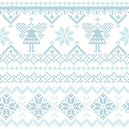 scandinavian christmas: Christmas Scandinavian Card - for invitation, wallpaper, background - in vectorvector Illustration