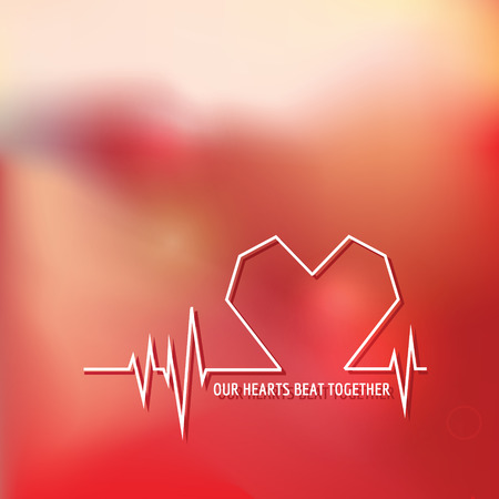 Heart Beat - Love Design for Valentines Day Logo - in vector