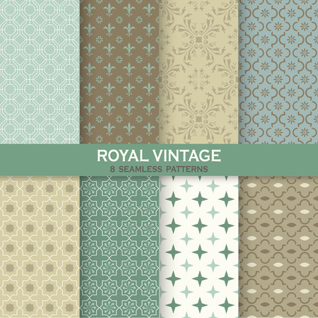 background tile: Seamless backgrounds Collection - Vintage Tile - for design and scrapbook - in vector