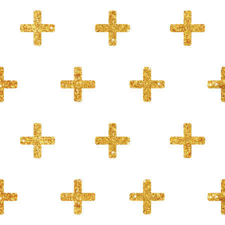 Vintage Geometric Glittery Gold Background  - Seamless Pattern - in vector Illustration