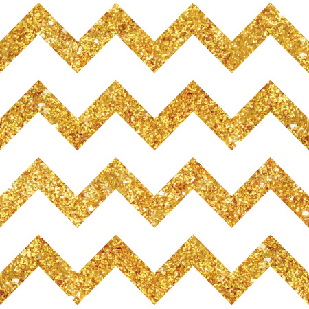 glittery: Vintage Geometric Glittery Gold Background  - Seamless Pattern - in vector Illustration
