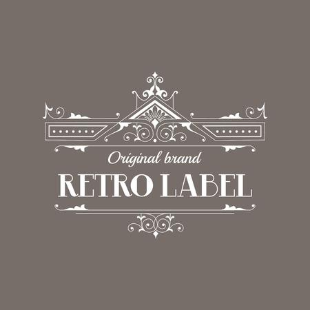 Art Deco Style Eleganckie Monogram - Retro ramki - w wektorze