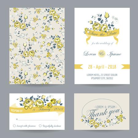 招待状やお祝いカード セット - ベビー シャワー - ベクトルの結婚式のため 写真素材 - 38957491